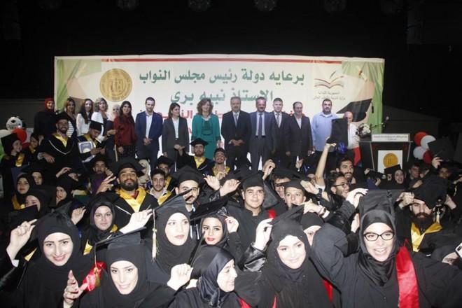 تكريم الطلاب الناجحين في الامتحانات الرسمية في معهد النبطية الفني
