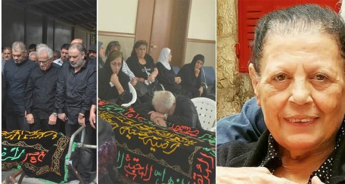تشييع هدى حمام، زوجة الفنان أحمد الزين