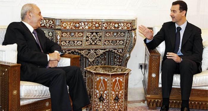 الرئيس بري مع الرئيس الأسد-صورة أرشيفية