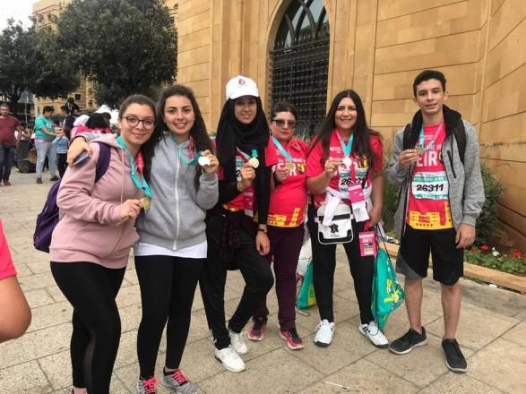 ملتقى الألوان شارك في ماراثون بيروت 2018
