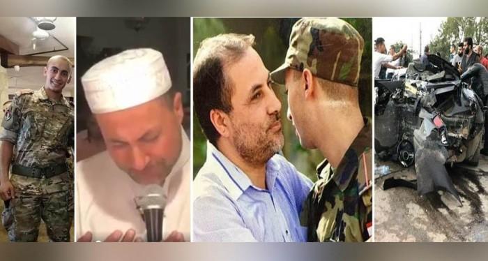 الشهيد أسامة حبلص مع والده