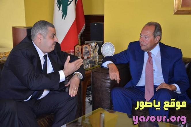 الرئيس السابق اميل لحود والسيد محمد نديم الملاح