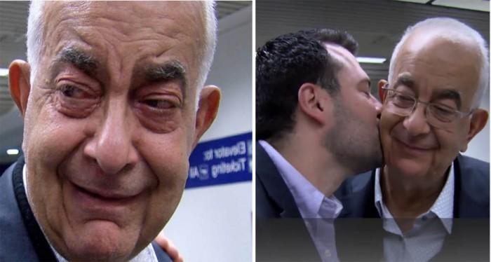 الطبيب اللبناني مع والده