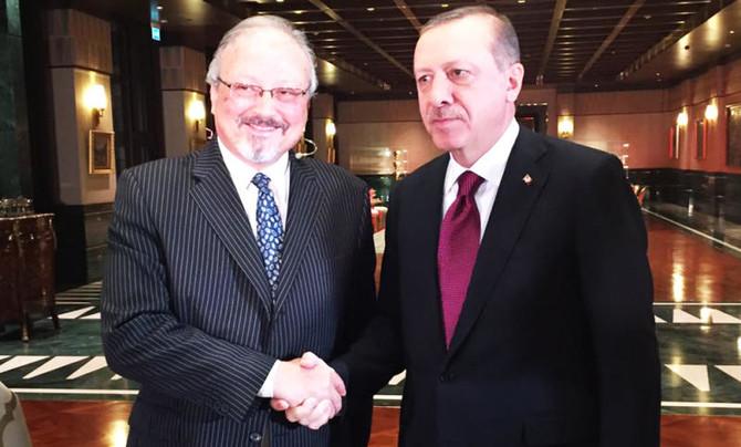 خاشقجي مع اردوغان