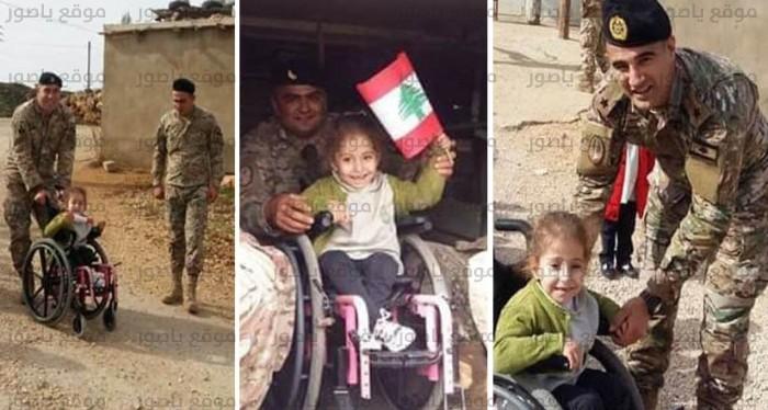 الطفلة فاطمة في زيارة موقع الجيش
