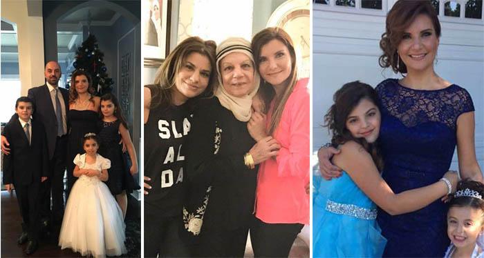 الطبيبة ريما عباس وعائلتها